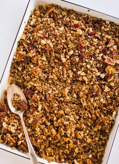 Healthy homemade gingerbread granola | Azure Standard natural and organic ingredients would be amazing in this recipe! Contact us at today 785-380-0034 if you are interested in having high quality affordable organics delivered to your area.