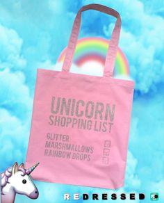 Einhorn Einkaufen Liste Glitter Marshmallows von REDRESSEDco