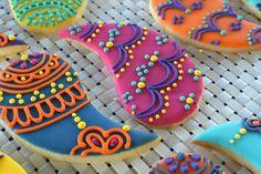 Custom Paisley Lace Sugar Cookies Set of Six by Sweet17Cookies
