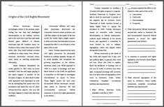Origins of the Civil Rights Movement - Free Printable American History Reading with Questions for Grades History Class, Us History, Black History, History Education, History Projects, Political Equality, Social Equality, American Life, American History
