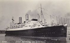 RMS Duchess Of Atholl, the ship my mother in law arrived on from America when she was a wee girl.