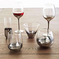 Metallic Ombre Glassware (Set of 4) #westelm  LOVE.