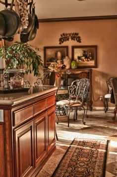 Tuscan Kitchen Breakfast Area By Suzanne O Brien Decorating