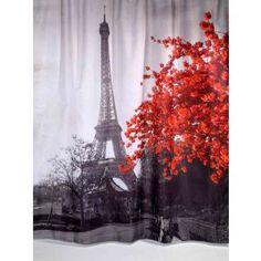 Κουρτίνα Μπάνιου Υφασμάτινη Paris Rainbow