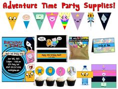 Adventure Time birthday party ideas from how to make balloon swords to penguin bowling. Great for Emmy's next b-day party!