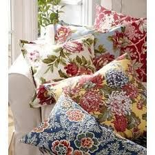 Image result for pottery barn floral pillow