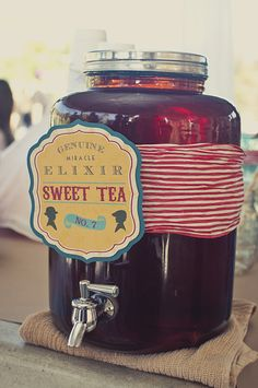 Sweet Tea container for a summer party!