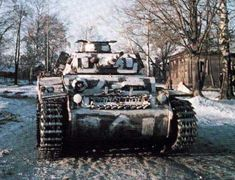 Panzer III with make-shift winter camo in the Soviet Union.