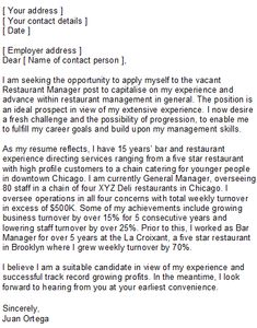 Receptionist cover letter example executive public relations professional resume cover letter sample sample restaurant manager covering letter spiritdancerdesigns Choice Image