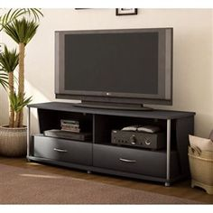 50-in TV Stand in Black Finish