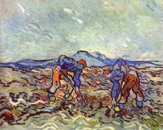 Vincent van Gogh (1853-1890): Farmers at Work