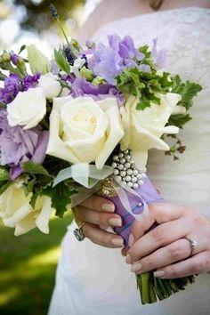 White & Purple Flowers!!