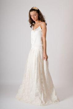 Vestido de novia de encaje Toulouse creación Louise