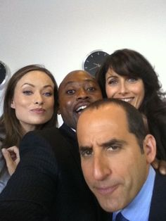 Olivia (Thirteen), Omar (Foreman), Lisa (Cuddy) and Peter (Taub) on the set of House M.D. #House