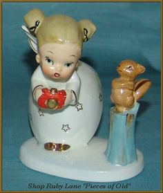 Vintage Napco Angel Figurine, Photographer Girl from piecesofold on Ruby Lane