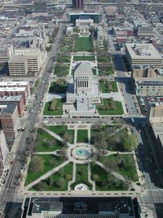 Aerial View of Indianapolis, IN