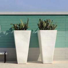 fotos de macetas modernas   Maceta Y-Pot SLIDE Design blanco