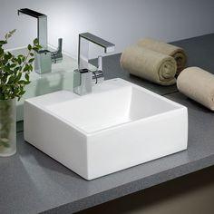 Rio Square Vessel Bathroom Sink