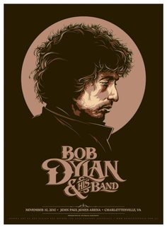 Bob Dylan by Ken Taylor. Beautifully designed. Beautifully illustrated. The type (which is also lovely) balances out the illustration perfectly.