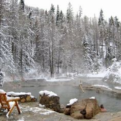Strawberry Hot Springs near Sreamboat Springs, CO. In my top 5 favorite places on Earth