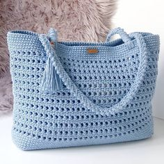 Free Beautiful Crochet Handwork Bag Design Ideas - Page 3 of 31 - Crochet market bag free pattern - Free Crochet Bag, Crochet Market Bag, Crochet Bags, Crochet Handbags, Crochet Purses, Bag Pattern Free, Tunisian Crochet, Knitted Bags, Crochet Accessories