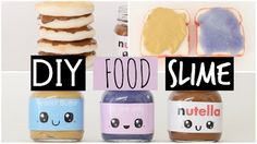DIY Nutella Peanut Butter & Jelly Slime With Toast & Pancake Squishies - CnTube