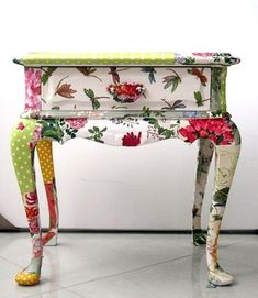 Decoupage Furniture End Table. Decoupage can be used on just about anything. if you would like to dress up a boring piece of furniture then just do it with decoupage.