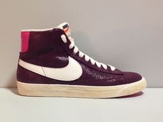 Details about WMNS NIKE BLAZER MID VINTAGE 518171 611 Be the hippest chick  around! Size 7. Women's ShoesNike ...