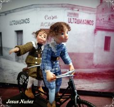 The Brothers, characters, for dollhouse scale 1/12, OOAK