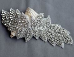 Rhinestone Applique Bridal Accessories Crystal Trim Rhinestone Beaded Applique Wedding Dress Sash Belt Headband Jewelry RA032
