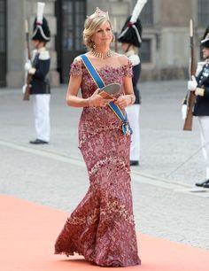 Queen Maxima at Prince Carl Philip and Princess Sofia's wedding