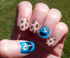 C is for Cookie - Cookie Monster Nails! Featuring @Zoya Nail Polish Avery for the cookies :)