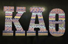 Sorority TrIbal Letters by SratCraftsForLess on Etsy, $30.00