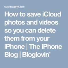 How to save iCloud photos and videos so you can delete them from your iPhone Iphone Codes, Iphone Information, Ipad Hacks, Iphone Hacks, Tech Hacks, Best Iphone, Camera Photography, Diy Cleaning Products, Good To Know