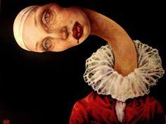 one of my favorite painters: Iranian artist Afarin Sajedi