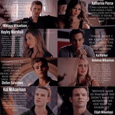 Characters x Life [Lil Part Two😘] Which quote is your favourite? Vampire Diaries Quotes, Vampire Diaries The Originals, Hayley And Klaus, Werewolf Hunter, The Orignals, The Mikaelsons, The Originals Tv, Vampier Diaries, Katherine Pierce