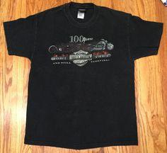 Men's Harley Davidson 100 Years 1903-2003 Blockers Parryville, PA TShirt L