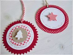 Carolas Bastelstübchen: Weihnachtliche Geschenkanhänger..........