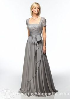 I know it's not exactly a young looking dress, but if I had to wear a long dress, this would totally be one of my choices.