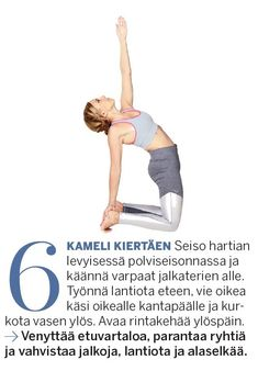 Aineenvaihdunta käyntiin ja lisää energiaa! Herätä keho 10 minuutin joogasarjalla | Me Naiset Keeping Healthy, Hiit, Pilates, Wellness, Exercise, Workout, Stretching, Fitness, Sports