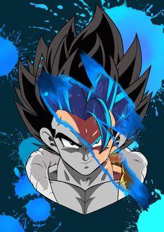 Gogeta ssjblue Dragon Ball Gt, Dragon Star, Blue Dragon, Dragonball Evolution, Son Goku, Easy Halloween Makeup, Theme Carnaval, Dragonball Super, Dbz Wallpapers