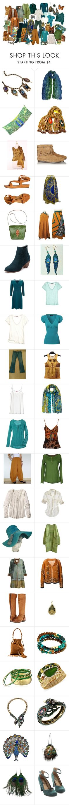 """""""Bohemian Capsule Wardrobe - 5 piece French base"""" by ketutar ❤ liked on Polyvore featuring Sweet Romance, Sujuu, Kenzo, NOVICA, Minnetonka, Coclico, Patricia Nash, Lands' End, Calypso St. Barth and Jane Norman"""
