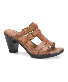 $52.99 Look what I found on #zulily! Luggage Sascha Leather Sandal #zulilyfinds