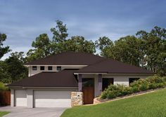 """Construction details are available for a range of COLORBOND® steel clad residential roofing systems designed for use on sites determined to be """"Bushfire Attach Level – Flame Zone (BAL-FZ)"""" under Australian Standard My Home Design, House Design, Facade House, House Facades, Colorbond Roof, Roof Restoration, External Cladding, Types Of Steel, Residential Roofing"""