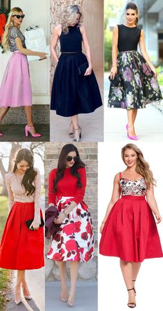 Inspira o de looks para o Natal Full Skirt Outfit, A Line Skirt Outfits, Floral Skirt Outfits, Dress Skirt, Elegant Dresses, Cute Dresses, Beautiful Dresses, Casual Dresses, Indian Gowns Dresses