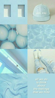 Blue aesthetic wallpaper iphone collage 34 Ideas for 2019 Light Blue Aesthetic, Blue Aesthetic Pastel, Aesthetic Pastel Wallpaper, Aesthetic Colors, Aesthetic Collage, Aesthetic Backgrounds, Trendy Wallpaper, Aesthetic Wallpapers, Blue Wallpaper Iphone