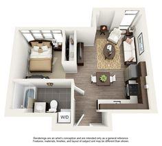 #quitinete #studio #Kitnet #apartamentosolteiro #imovelpequeno