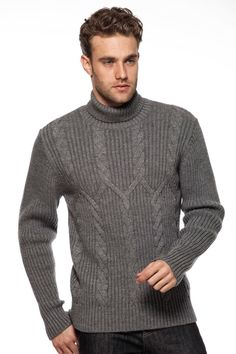 David Pullover in smoke by Ferraro  -  @Beyond the Rack. 60% Acrylic, 20% Wool, 20% Polyester. Origin: Turkey.