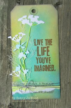 creative chemistry, tim holtz, tag sizzix thinlits dies, wildflowers, holiday greens, tissue tape, distress inks