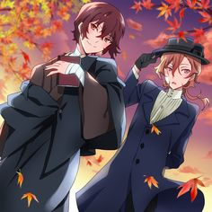 I love every autumn themed fanart especially when it involves a certain blushing redhead and a tall dark-haired guy..